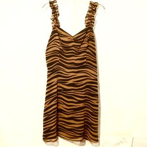 All in Favor Tiger Print NWT Dress Size Small